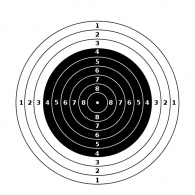Märkleht Püstol 25/50m paber 55*55(ISSF)