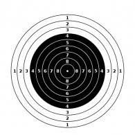 Märkleht Õhupüstol 10m paber17*17 (ISSF)